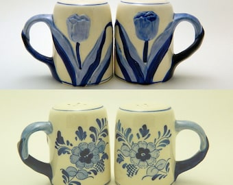 Delft Blue Salt and Pepper Shakers - 1984 - Pair of D.A.I.C. Shakers