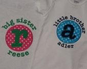 Personalized Sibling Shirts SET OF 2