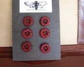 Decorative Office Thumbtacks, Button Thumbtacks, Vintage Button Pushpins, Corkboard Tacks