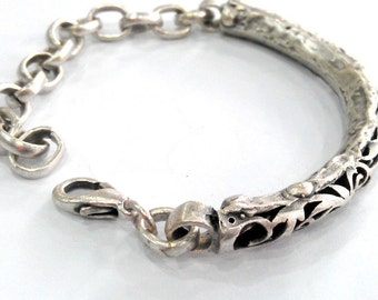 Antique Silver Plated Brass  Bracelet Components Findings For Your Craft , G61