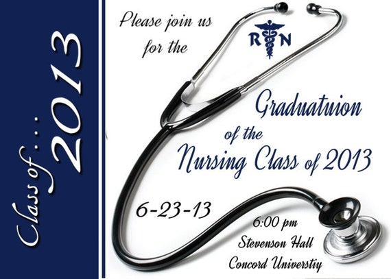 GRADUATION Invitation – Nurse Graduation Invitations
