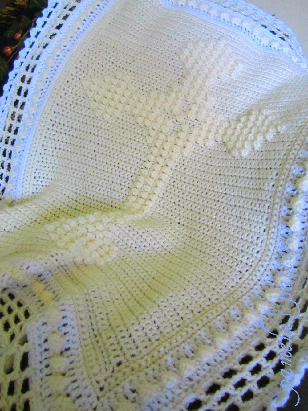 Crochet Patterns Christening Blanket : Crochet Celtic Cross Blanket Pattern PDF by pamelaspatterns