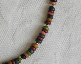 Earth Tones Wood Necklace 2