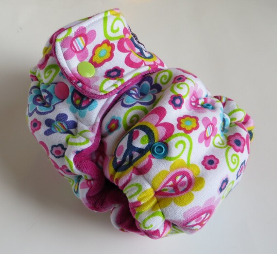 One Size Fitted Hybrid Cloth Diaper  Peace N Love