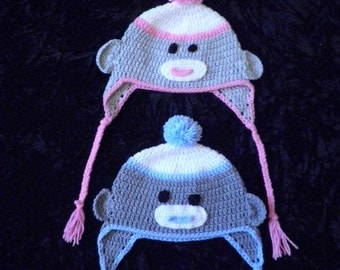 Sock Monkey hats crochet