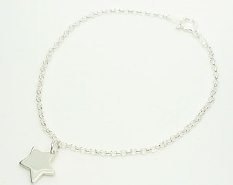 Little Star Charm Bracelet (Sterling Silver)