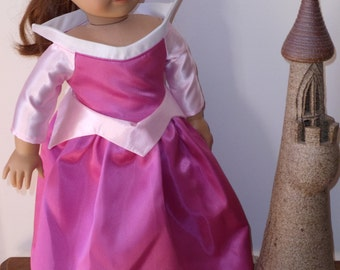 Sleeping Beauty Princess Aurora Dress for American Girl Doll