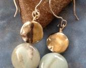Amazonite & Pewter Earrings