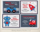 Custom Printable Valentine's Day Cards DIY- Boy - Personalized Digital Printable Valentine Card - Personal Use Only