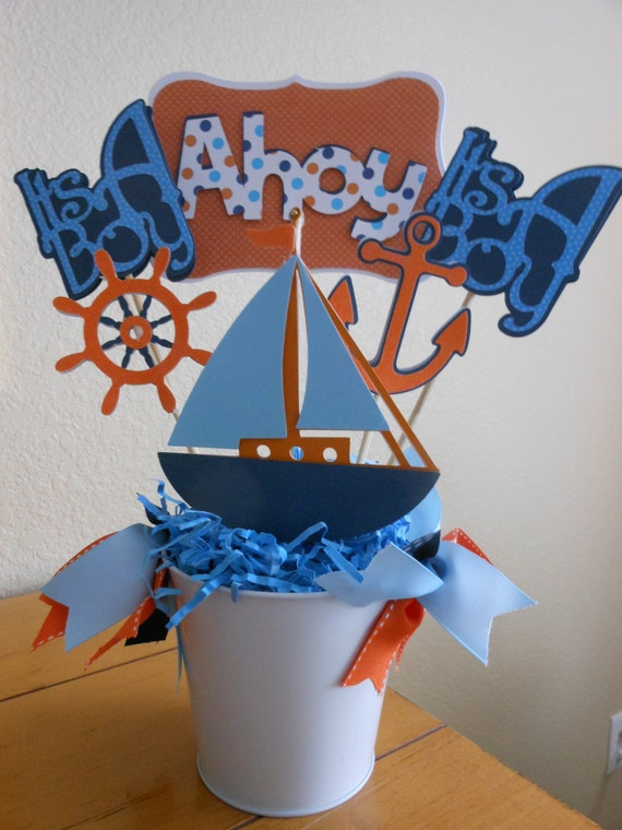 items similar to nautical theme ahoy it 39 s a boy baby shower p