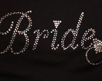 Bride Tee or Tank, Bride to be Shirt, Bling Bride Tank, Bling Bride Shirt, Bridal Party, Bachelorette Party, Bridal Shower Gift, Bride to be