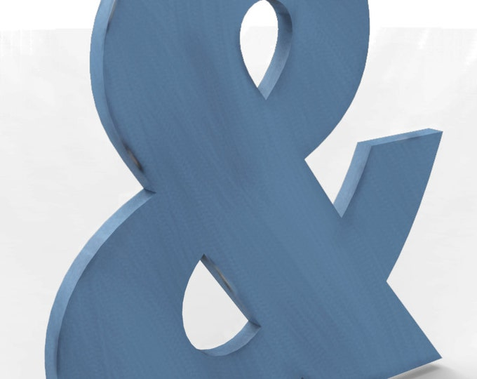 "Custom Hand Cut Letter & Ampersand 18"" tall Distressed Finish in your choice of Color and Font."