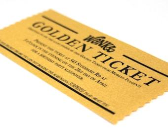 Golden ticket invitation | Etsy