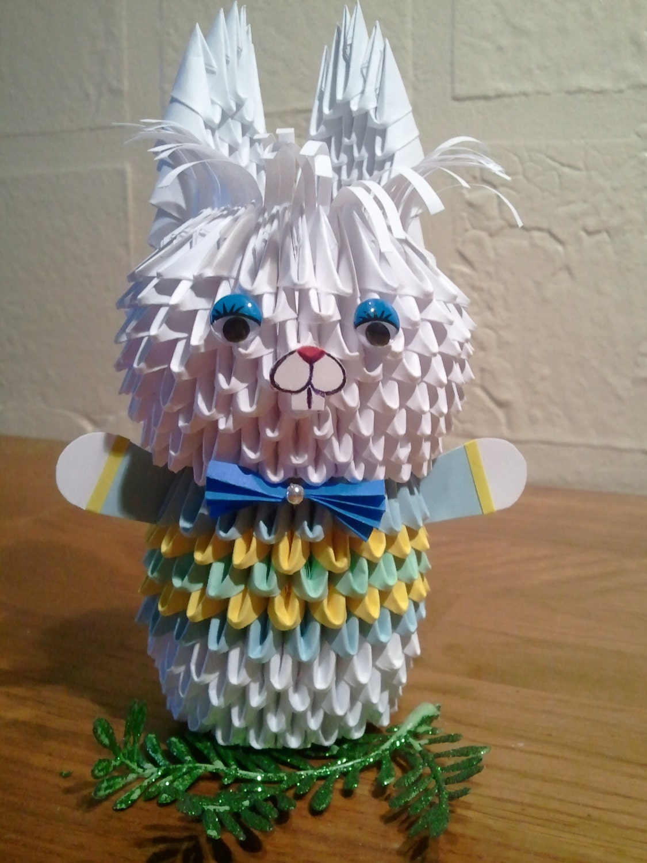 3d origami Bunny boy - photo#50