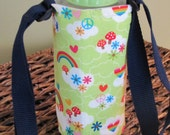 Feeling Groovy  Insulated Water Bottle with Adjustable Strap