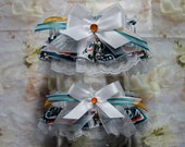 Miami Dolphins Wedding Garter Set