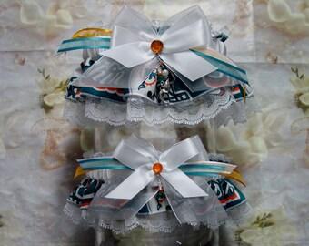 Miami Dolphins Wedding Garter Set