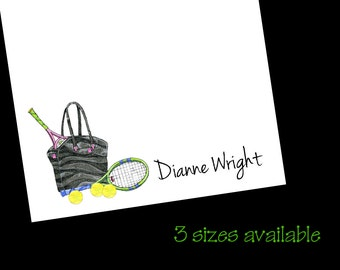 Tennis Bag Notepads - Padded Stationery Notes ~ 3 Sizes