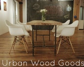 "modern reclaimed wood table. custom made to size. 72"" l x 30"" w x 30""  tall - UrbanWoodGoods"
