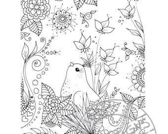 Digital coloring page 2