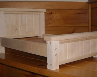 Handmade Rustic Style Bed for 18 inch doll