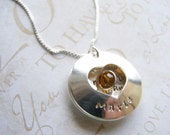 Handstamped Locket - Mother in law Necklace- sterling silver - Thank you for raising the man (or woman or girl) of my dreams.