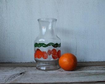 Vintage Glass Carafe, Orange Juice Carafe, Vintage Kitchen