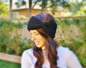 Chunky Turban Headband in Black