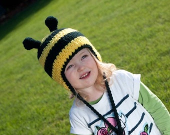 Instant Download Crochet Pattern - Bumble Bee Hat Pattern