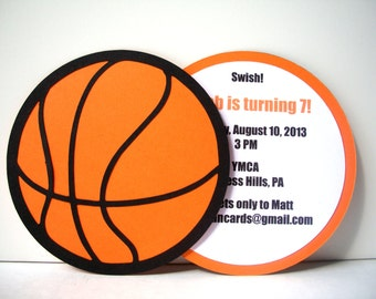 Basketball Invitation - Pack of 10