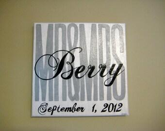 Custom Mr. & Mrs. Acrylic Name Painting