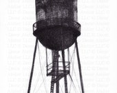 Brooklyn Water Tower Drawing - Free Shipping!