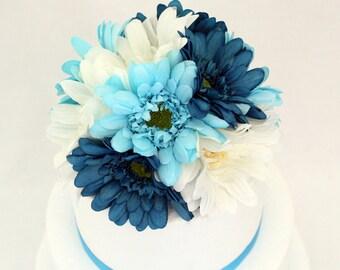 MADE TO ORDER Gerbera Daisy Silk Flower Wedding Cake Topper - 8 inch diameter