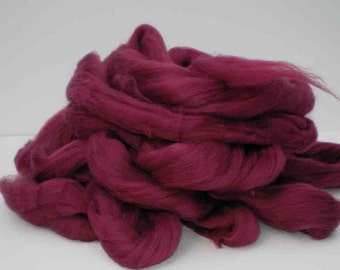 """Ashland Bay Solid Colored Merino for Spinning or Felting """"Ruby""""  4 oz."""