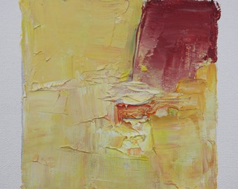 Passion No. 67 Oil on canvas, small oil painting, 4 x 4, abstract art, original art, paul harrington