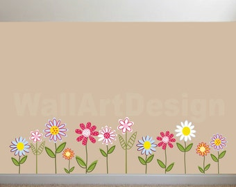 Vinyl Wall Decal  Vinyl Wall Decal Stickers Daisy Flowers