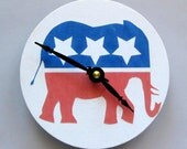 Small wall clock for the politically inclined, particularly Republicans. Political elephant.