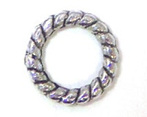 Lead Free Pewter Twisted Rope Ring  (EF8333)   SRA-D84