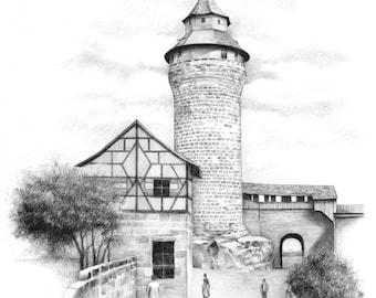 German Castle - Print