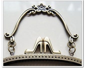 6.2 inch antique bronze high heel shoes kiss lock  frame vintage  purse frame with metal purse handle
