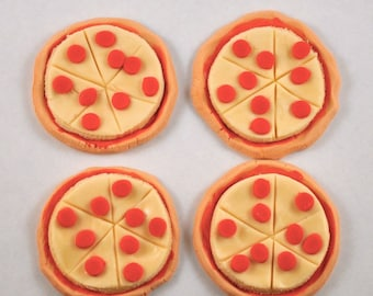 Pizza Fondant Cupcake or Cookie Toppers- Edible- 1 Dozen
