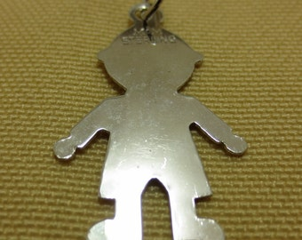 BABY BOY CHARM -- ready for engraving for that special date -  Sterling Silver Charms or Pendants