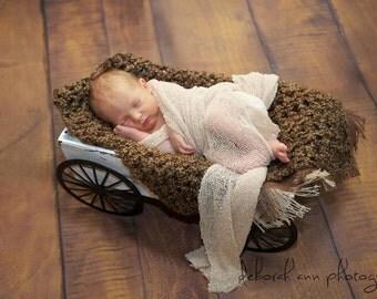 Brown Sugar Newborn Baby Blanket Photo Prop
