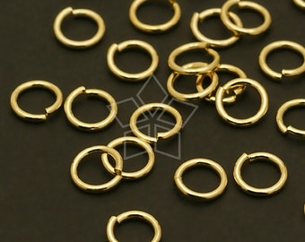 BS-108-GD / 10 Grams - 5.6mm Jump Rings, 16K Gold Plated Brass / 20 Gauge(0.8mm)