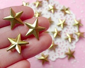 Rivet / GOLD Metal STAR Rivet Studs 16mm (around 30pcs) for Leather Craft / Jean Button, etc  RT21