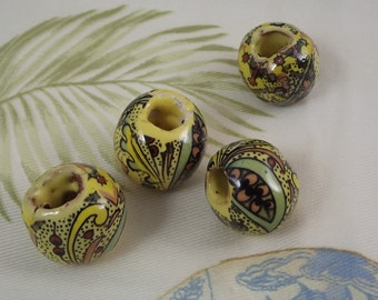 Large Hand Made Ceramic Beads