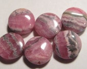 Rhodochrosite beads  ...     6  pieces ............          12 mm x 4.8 mm  ................     a1403