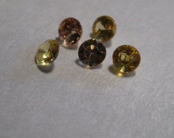Songea  Sapphires .......     3 mm   ......      5 pieces .....                a200