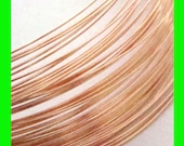 18 gauge 14k Rose gold filled Wire round beading 1ft half hard  in coil rf18hh