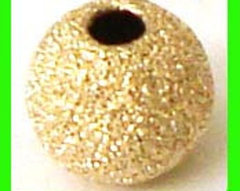 20x 5mm round stardust bead  14k gold filled spacer GS25